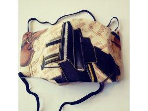 rouška motiv kridlo housle