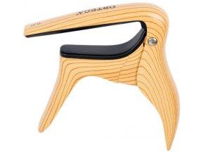kapodastr akustická kytara imitace světlého dřeva