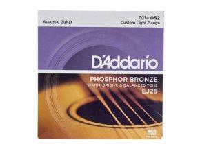 daddario ej26 struny pro akustickou kytaru phosphor bronze 011 052