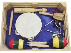 Planet Music orffovy nástroje sada percusí pro školy školky v dřevěné bedýnce