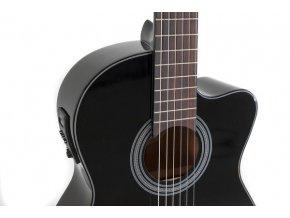 GEWA Student elektro akustická klasická kytara černá snímač ladička