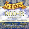 2100107 la bella 900 b nylonové struny pro klasickou kytaru černý nylon pozlacené hlazené vinutí