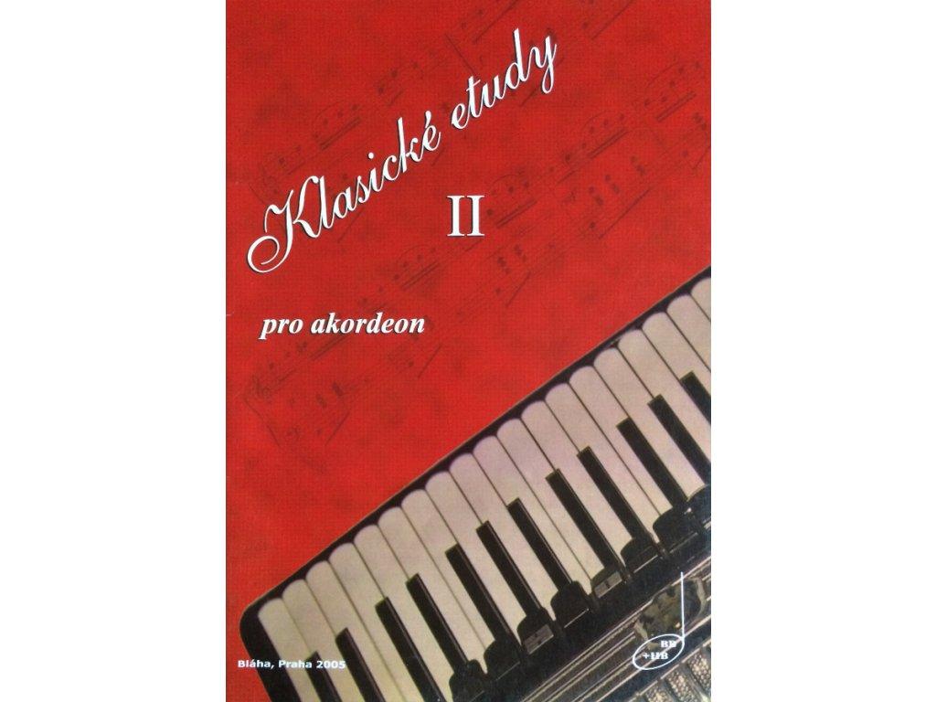 Klasické etudy pro akordeon II - Bohumil Bláha