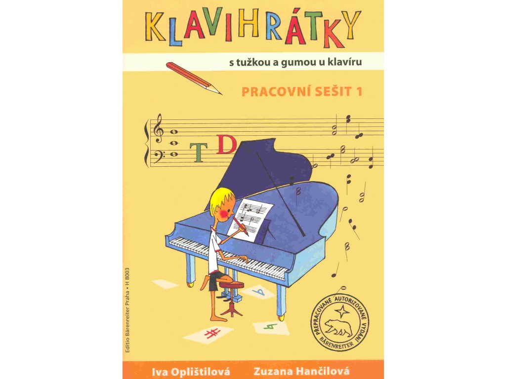 KLAVIHRÁTKY s tužkou a gumou u klavíru -  pracovní sešit 1