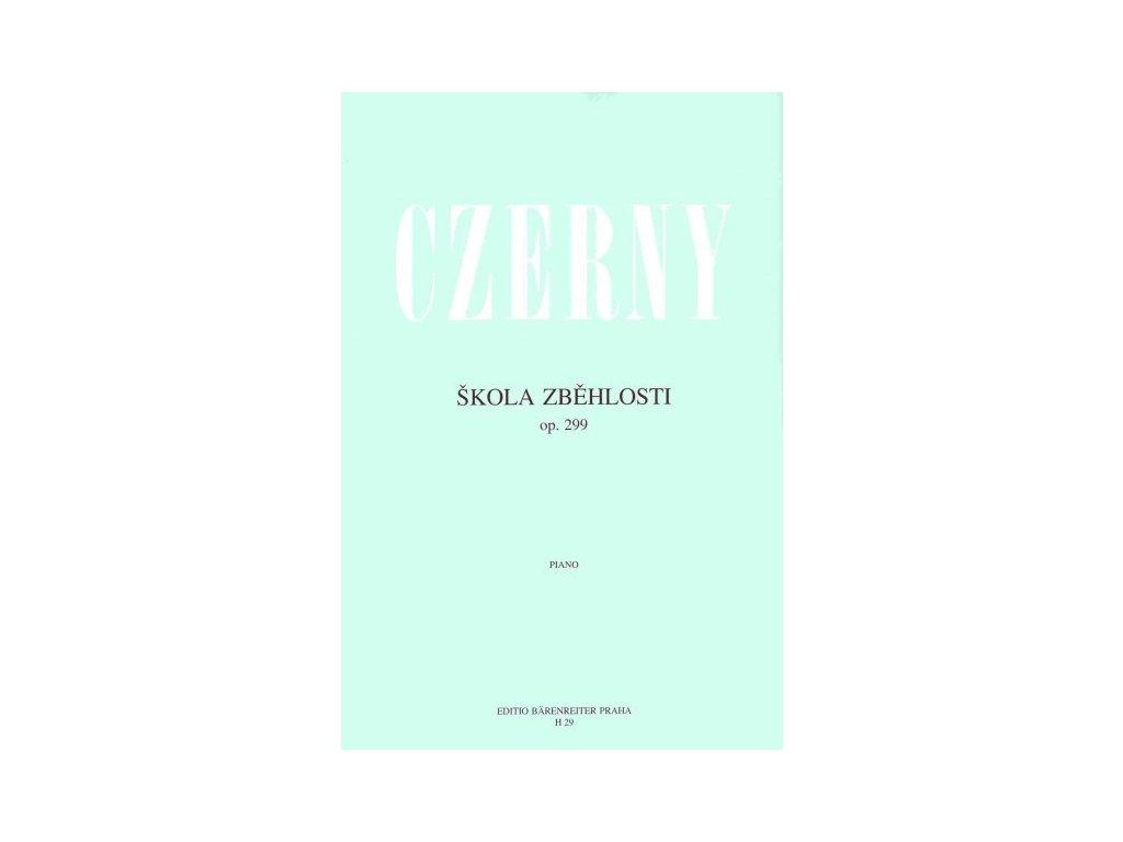 ŠKOLA ZBĚHLOSTI OP. 299 - Czerny