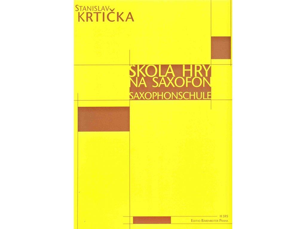 Škola hry na saxofon - Stanislav Krtička