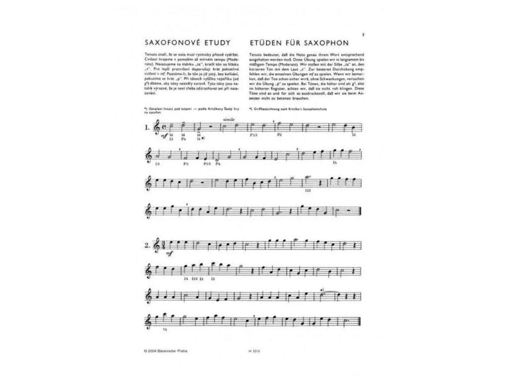 Saxofonové etudy - Rudolf Gruber
