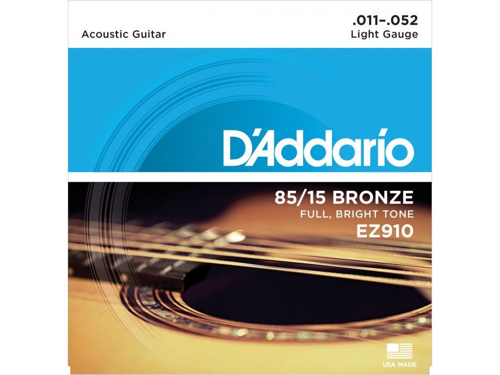 D'Addario EZ910Light - struny na akustickou kytaru
