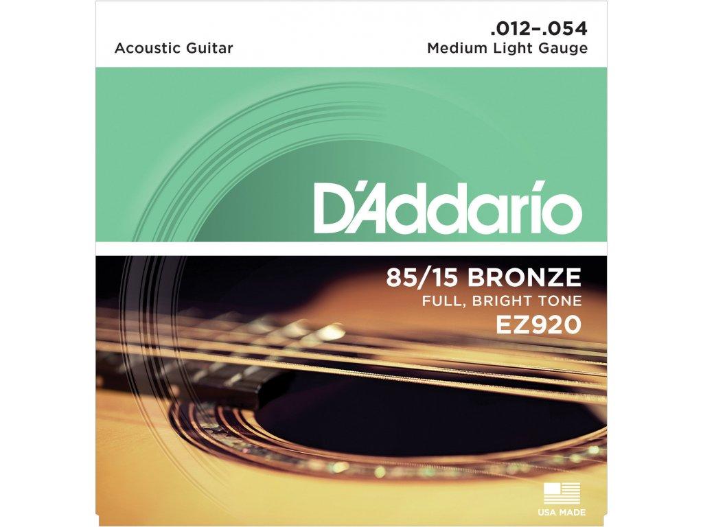 D'Addario EZ920 Medium Light - struny na akustickou kytaru