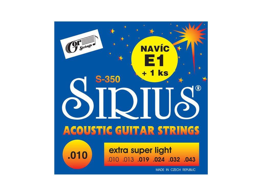 Gorstrings SIRIUS S-350 Extra Super Light 10 - struny na akustickou kytaru