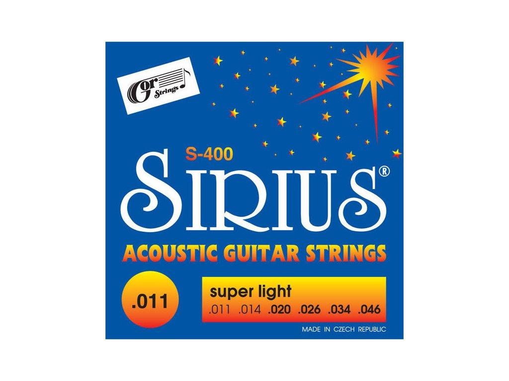Gorstrings SIRIUS S-400 Super Light 11 - struny na akustickou kytaru