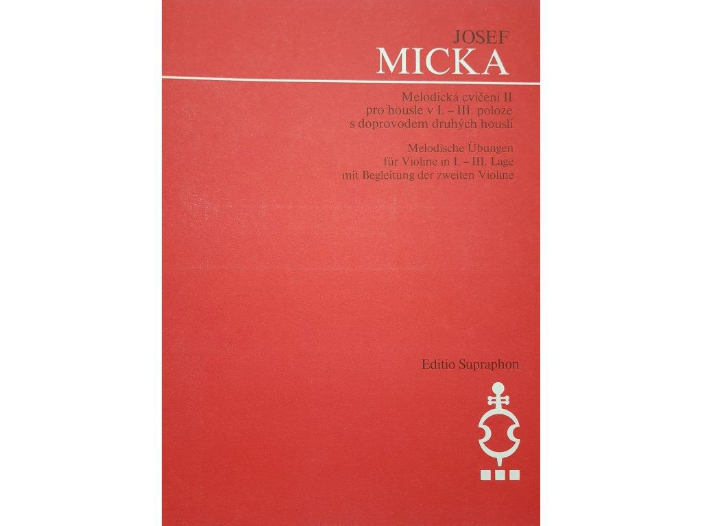 Melodická cvičení II - Josef Micka