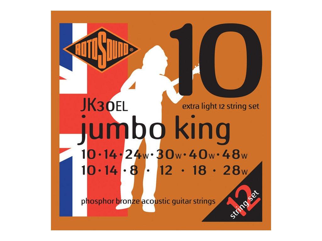 Rotosound JK30-EL Jumbo King 12-strunná sada na akustickou kytaru