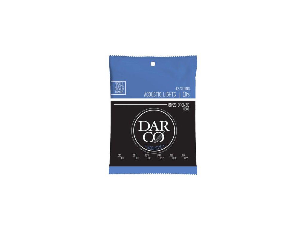 DARCO D50 80/20 bronze 12-strunná sada na akustickou kytaru