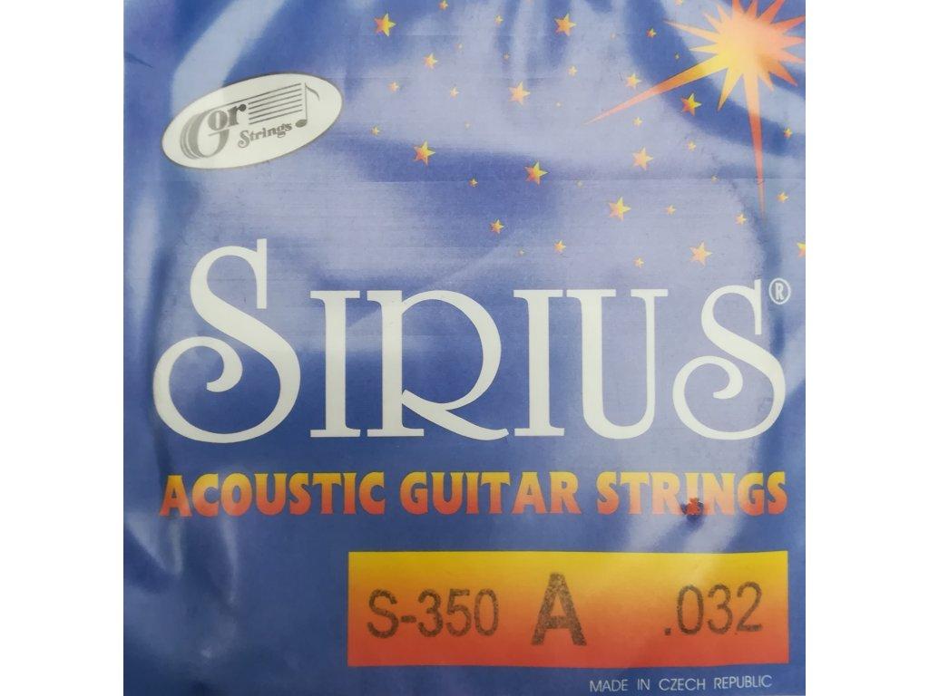 Jednotlivé struny Gostrings pro sadu Sirius S 350 (.010)