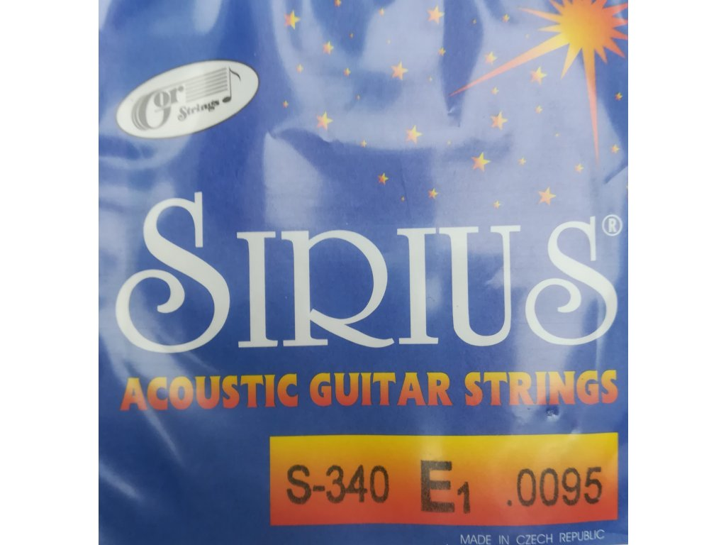 Jednotlivé struny Gostrings pro sadu Sirius S 340 (.0095)