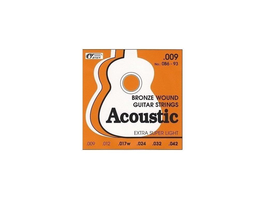 GORSTRINGS 0B6–93 (.019-.042) – struny na akustickou kytaru