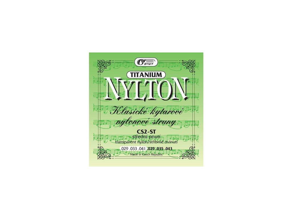 Gorstrings Nylton CS2-ST Titanium - nylonové struny pro klasickou kytaru