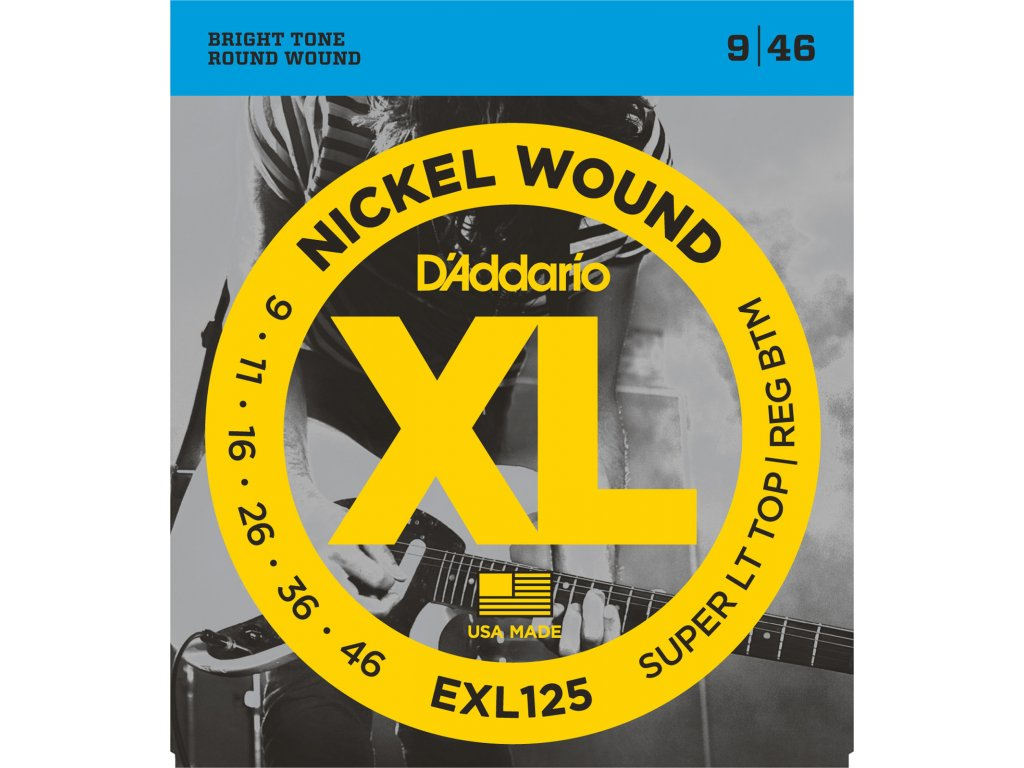 D'Addario EXL 125 Super LT Top/Reg BTM 9/46 - struny na elektrickou kytaru