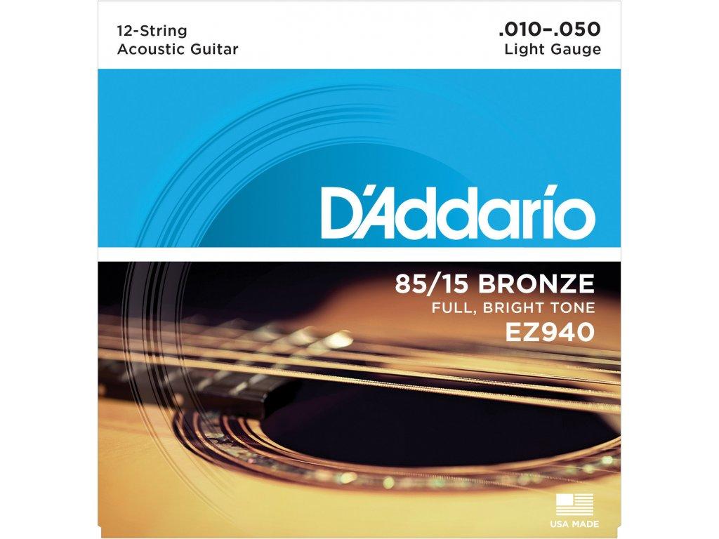 D'Addario EZ940 12-strunná sada na akustickou kytaru