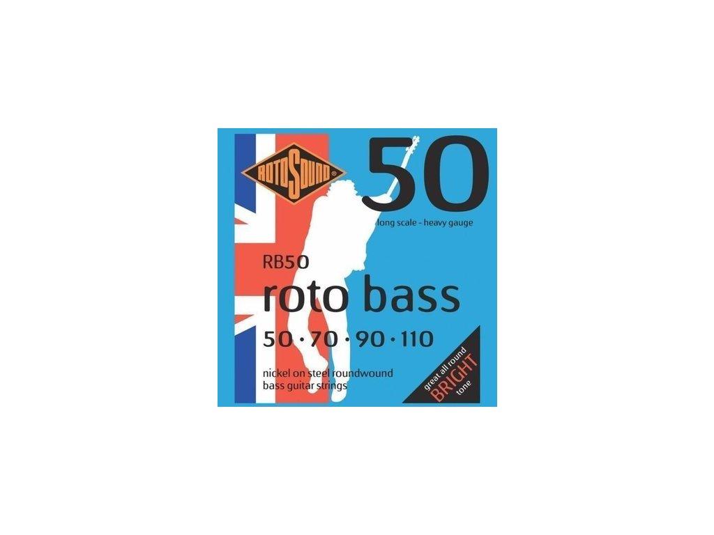 Rotosound RB50 - 4-strunná sada pro baskytaru