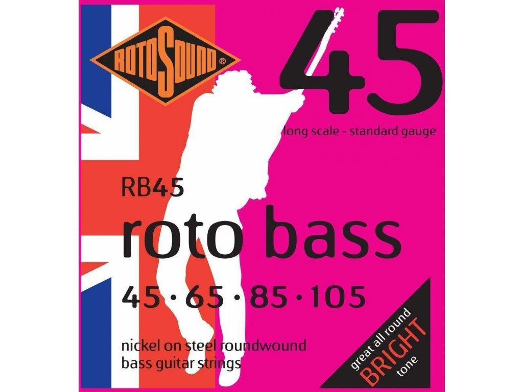 Rotosound RB45 - 4-strunná sada pro baskytaru