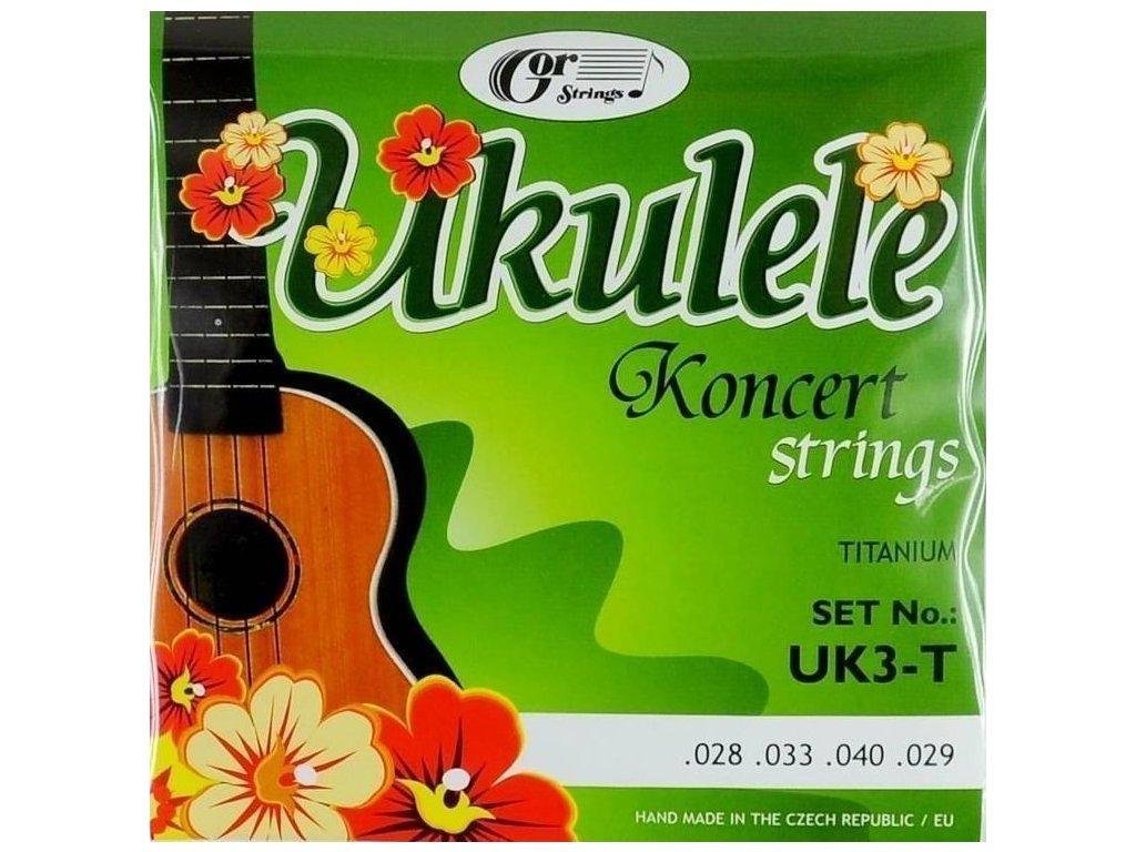 Gorstrings UK3-T Ukulele Koncert - struny pro koncertní ukulele