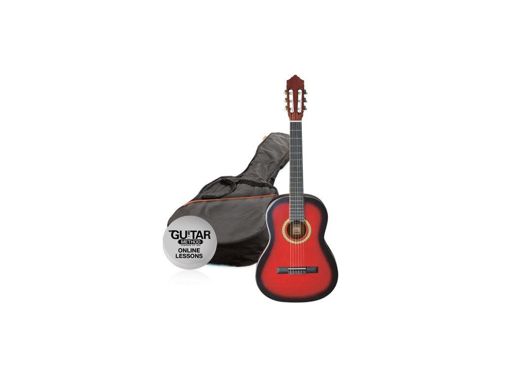 klasicka kytara paket 34 ashton spcg 34 trb pack cervena 645354.761696527