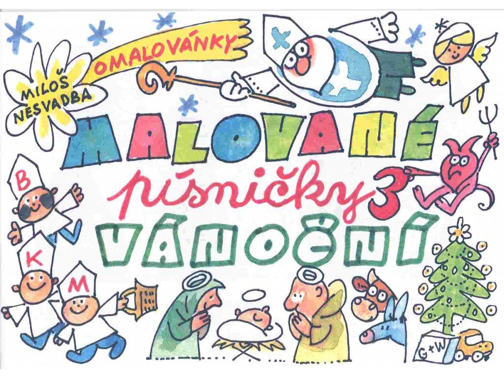 Malované vánoční písničky - omalovánky Miloše Nesvadby
