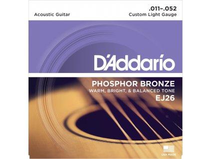 D'Addario EJ26 Custom Light - struny na akustickou kytaru