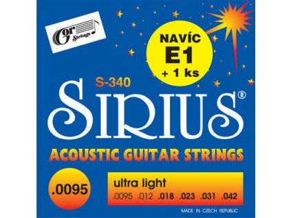 Gorstrings SIRIUS S-340 Ultra Light 9 - struny na akustickou kytaru