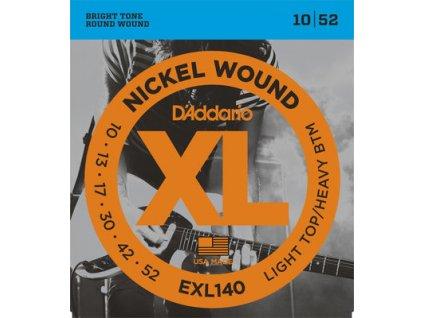 D'Addario EXL 140 Light Top/Heavy BTM 10/52 - struny na elektrickou kytaru