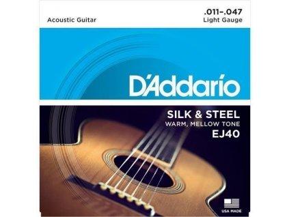 D'Addario EJ40 Silk & Steel - struny na akustickou kytaru