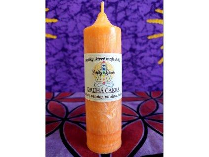 Čakrová svíce oranžová - 2.čakra - (14x4cm)
