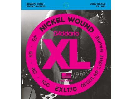 D'Addario EXL170 - 4-strunná sada pro baskytaru