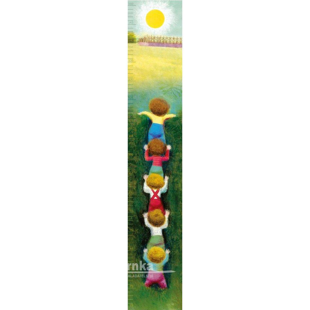 Samolepící dětský metr Zahrada kluci