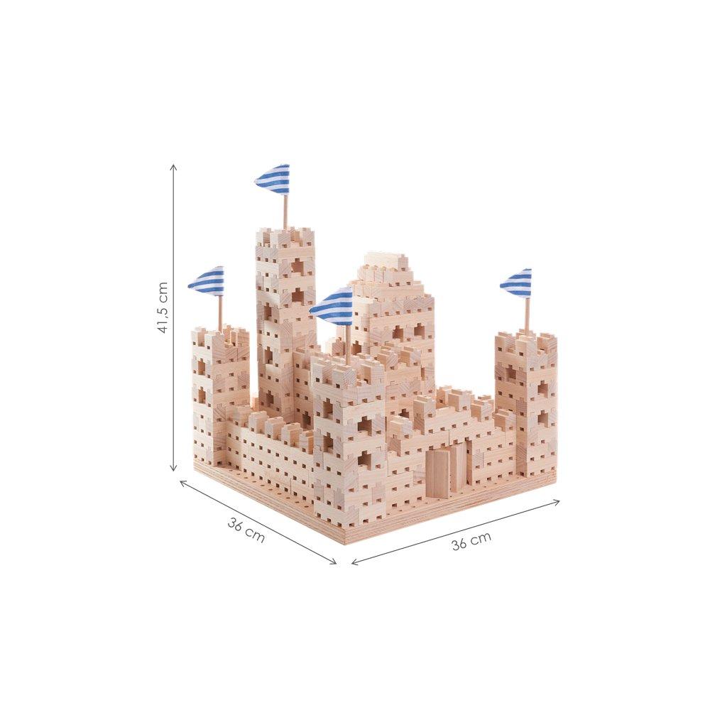 Dřevěná stavebnice Buko – Velký hrad, 542 dílů