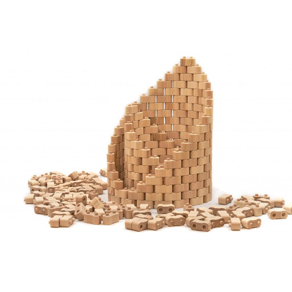Dřevěná stavebnice Godi, 224 dílů