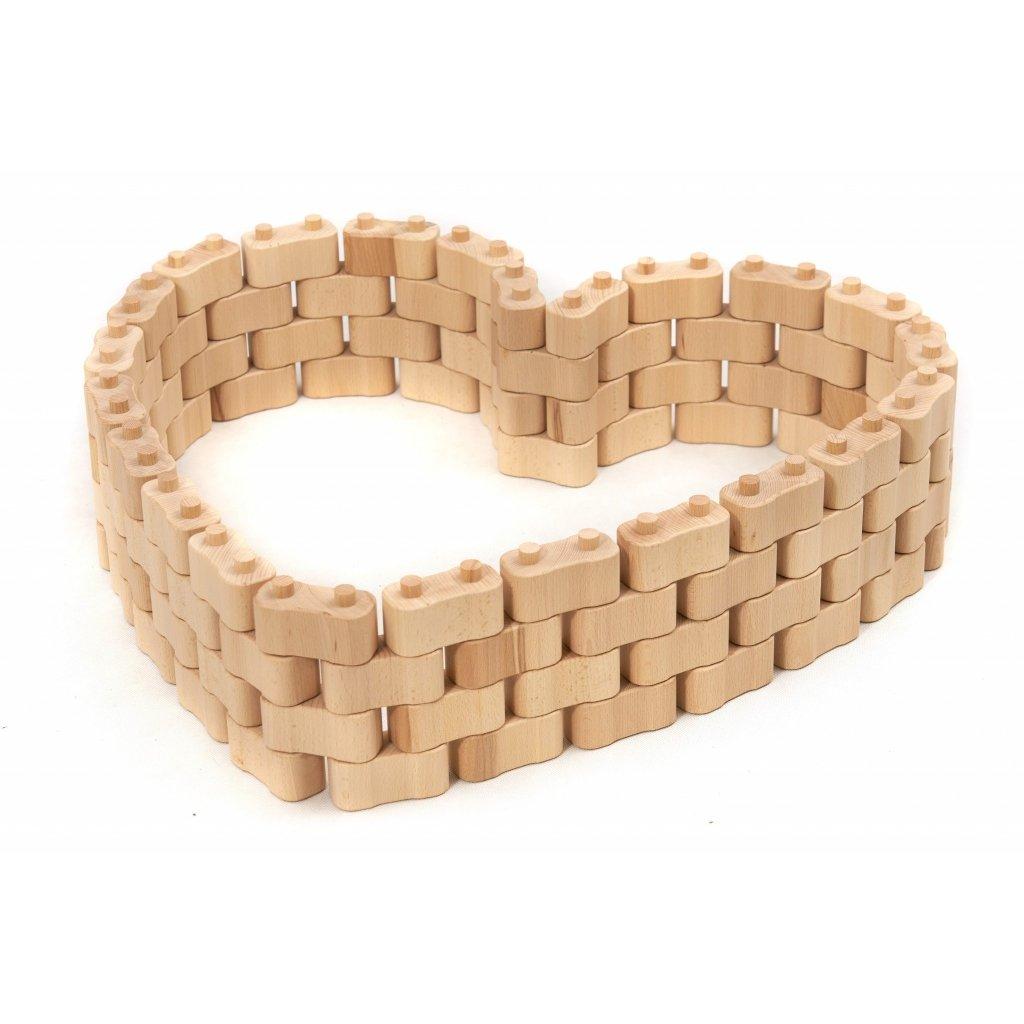Dřevěná stavebnice Godi, 96 dílů