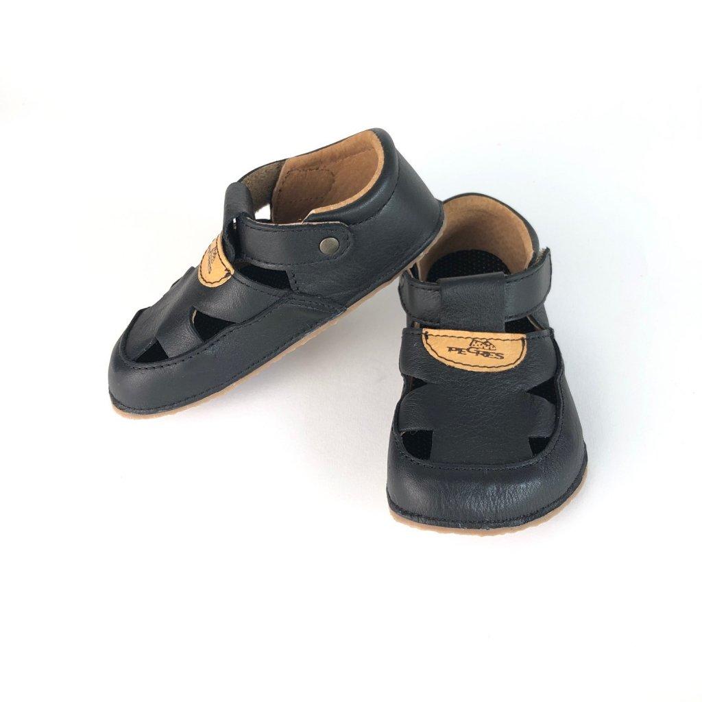 Barefoot sandálky kožené černé