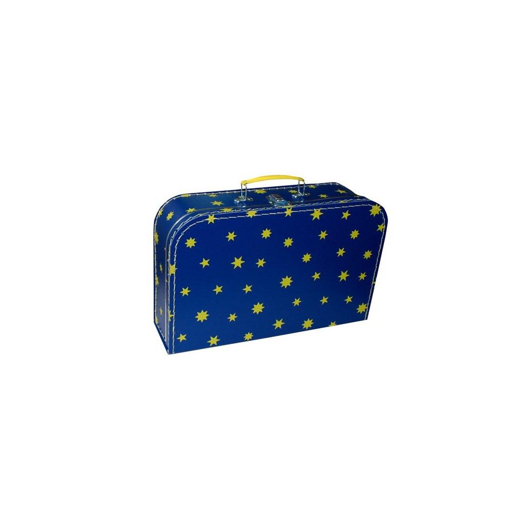 Kufr školní tmavě modrý s hvězdičkami
