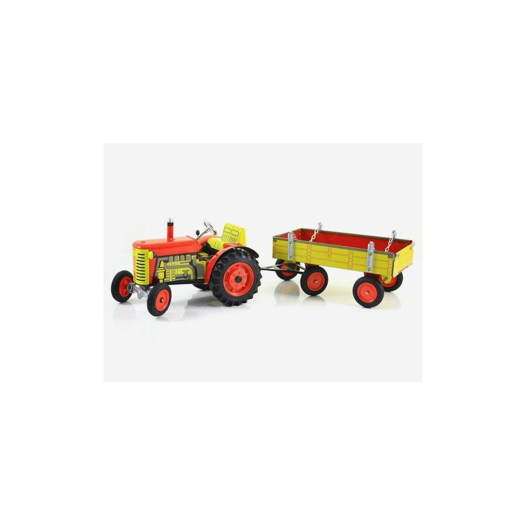 Traktor Zetor s valníkem červený