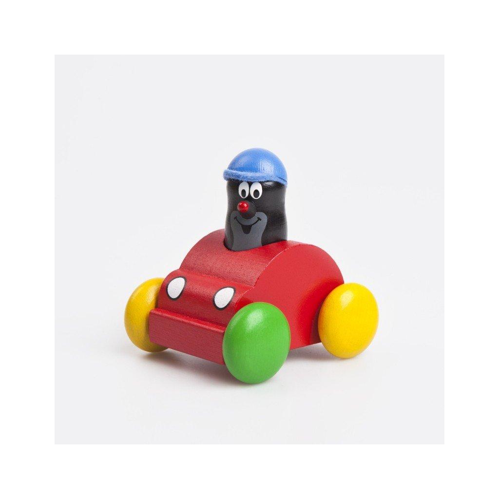 Pískací červené auto s Krtkem