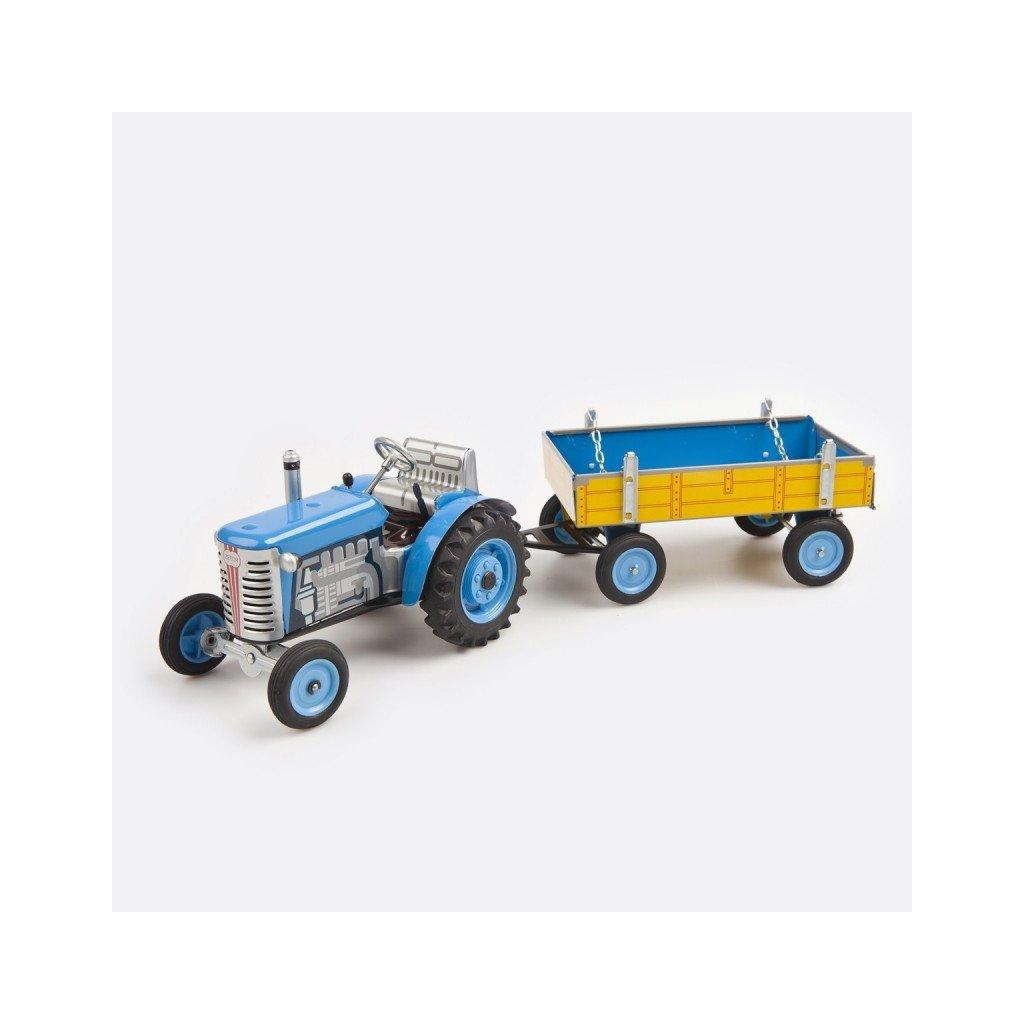 Traktor Zetor s valníkem modrý