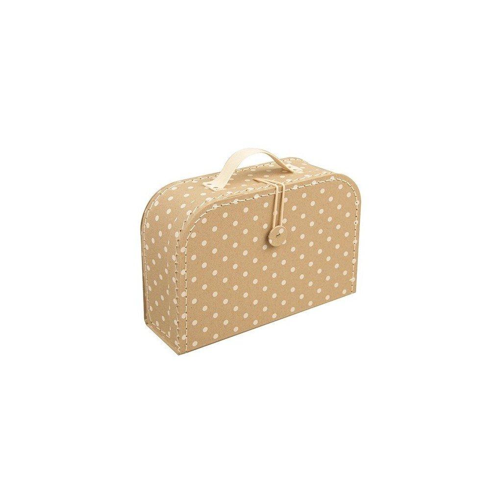 Puntíkatý kufr s knoflíkem střední