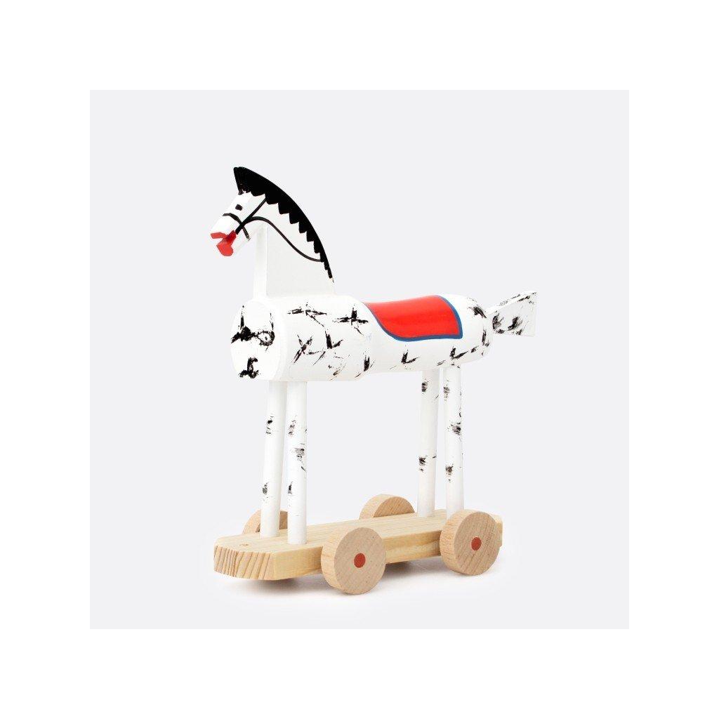 Koník jezdící dřevěný