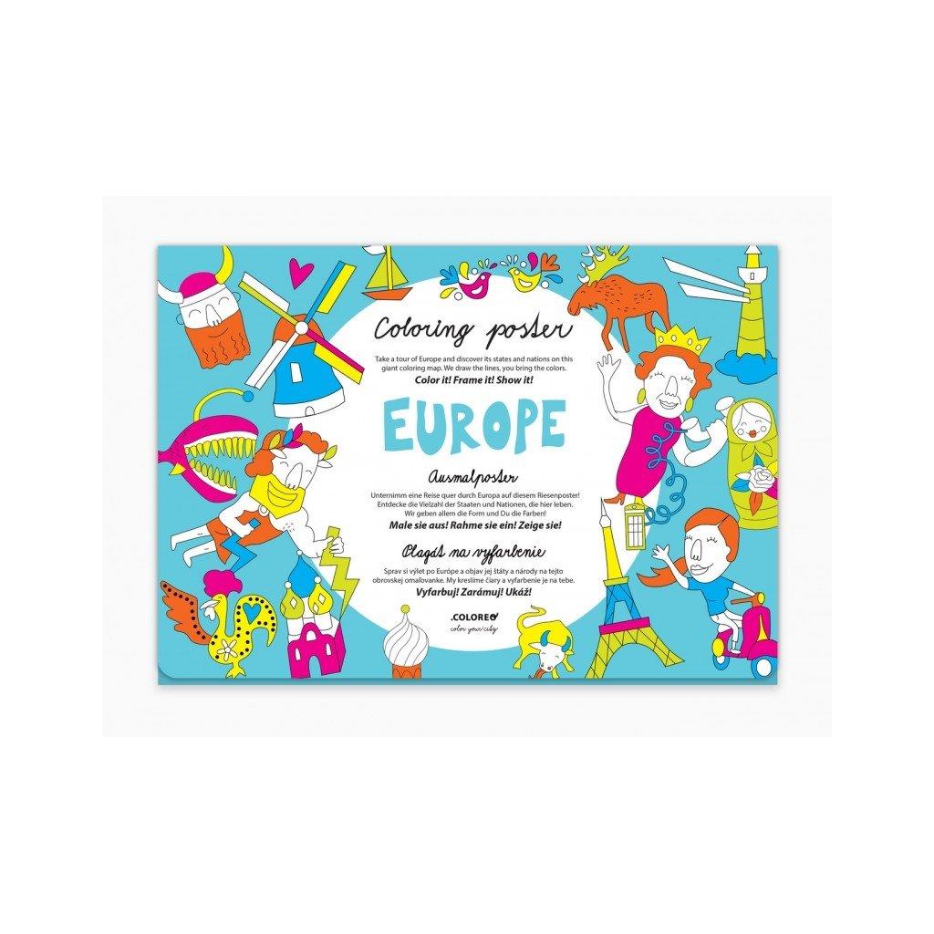 Evropa plakát - omalovánka
