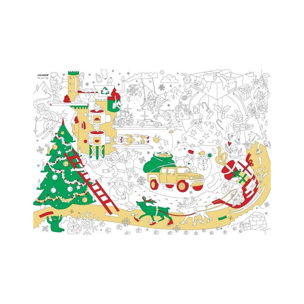 Christmas factory plakát - omalovánka