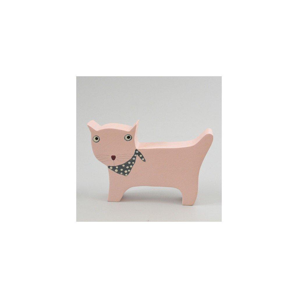 Krásná růžová kočička pic