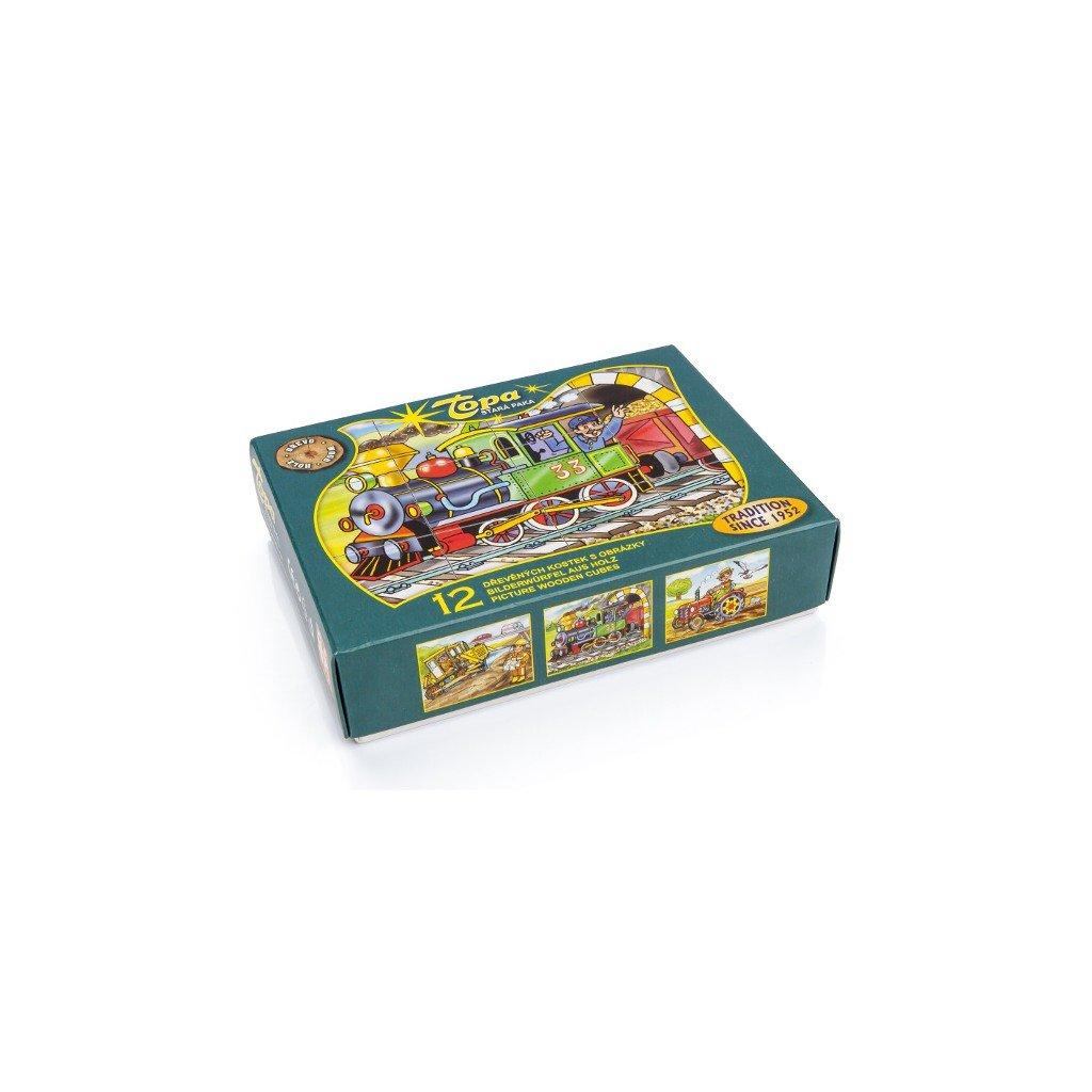 Dřevěné kostky - Mašinka